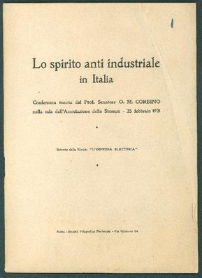 Discorsi di O. M. Corbino al Senato del Regno