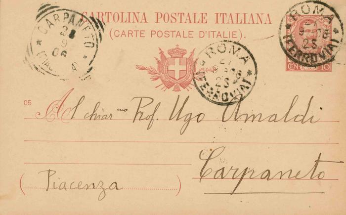 Corrado Segre a Ugo Amaldi, 27/09/1906, Roma, pagina 1