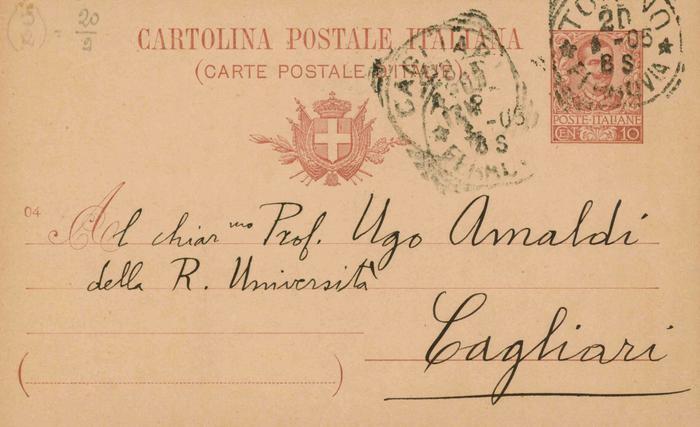 Corrado Segre a Ugo Amaldi, 20/04/1905, Torino, pagina 1